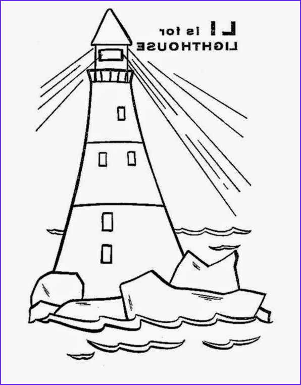 Lighthouse Coloring Pages New Image February 2015