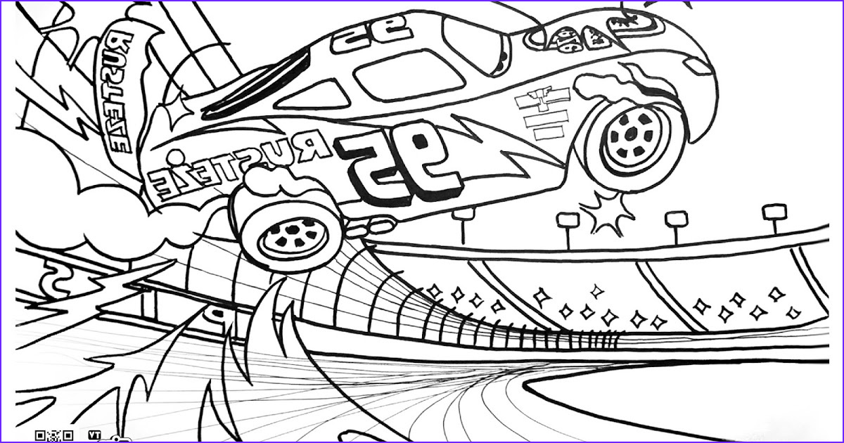 coloring page lightning mcqueen crash