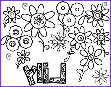 Lilies Coloring Beautiful Photography Personalized Coloring Page Girl S Name Lily Line by