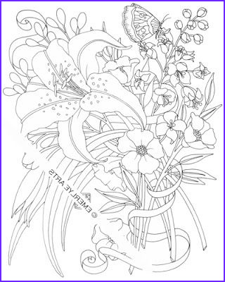 Lilies Coloring Inspirational Photography Lily An Adult Coloring Page by Cynthia Emerlye