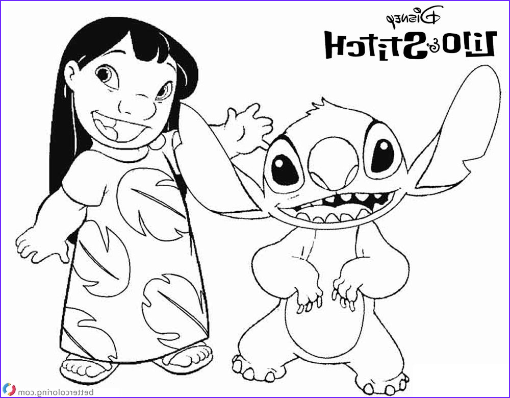 lilo and stitch coloring pages say hi