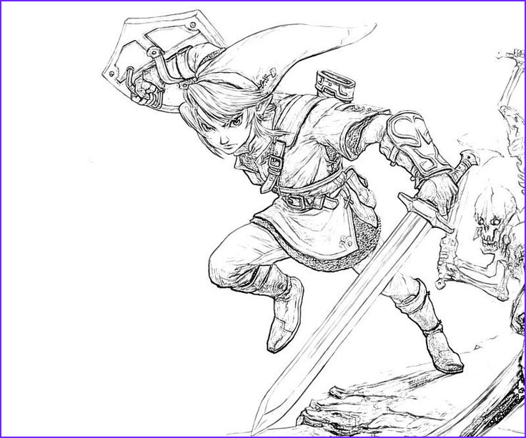 Link Coloring Pages Awesome Image Zelda Coloring Pages to Print