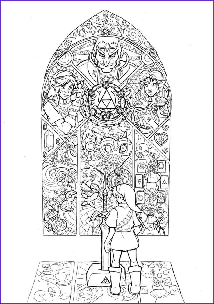legend of zelda coloring pages
