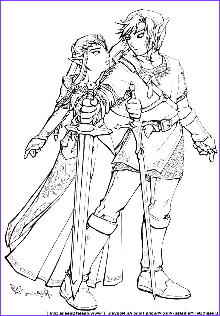Link Coloring Pages Beautiful Image Zelda Coloring Pages