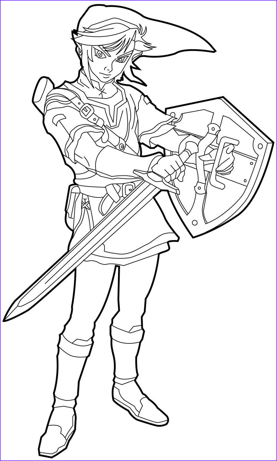 Link Coloring Pages Cool Gallery Free Printable Zelda Coloring Pages for Kids