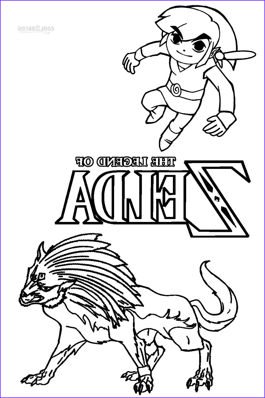 Link Coloring Pages Elegant Collection Printable Zelda Coloring Pages for Kids