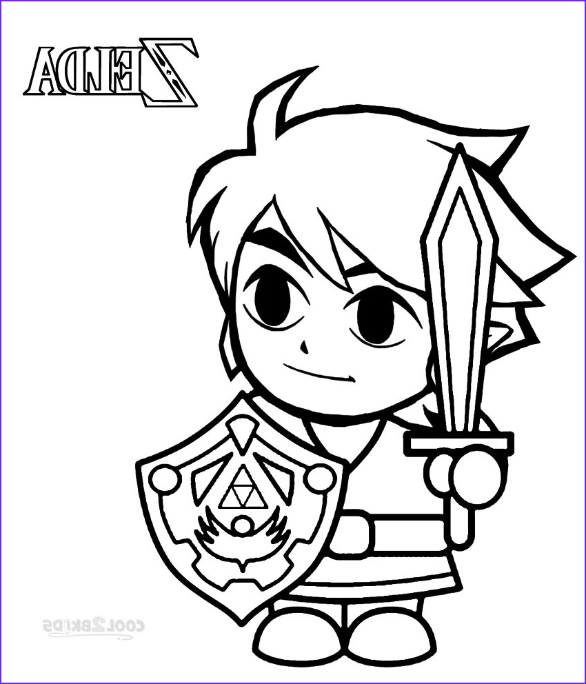 Link Coloring Pages Elegant Images Printable Zelda Coloring Pages for Kids