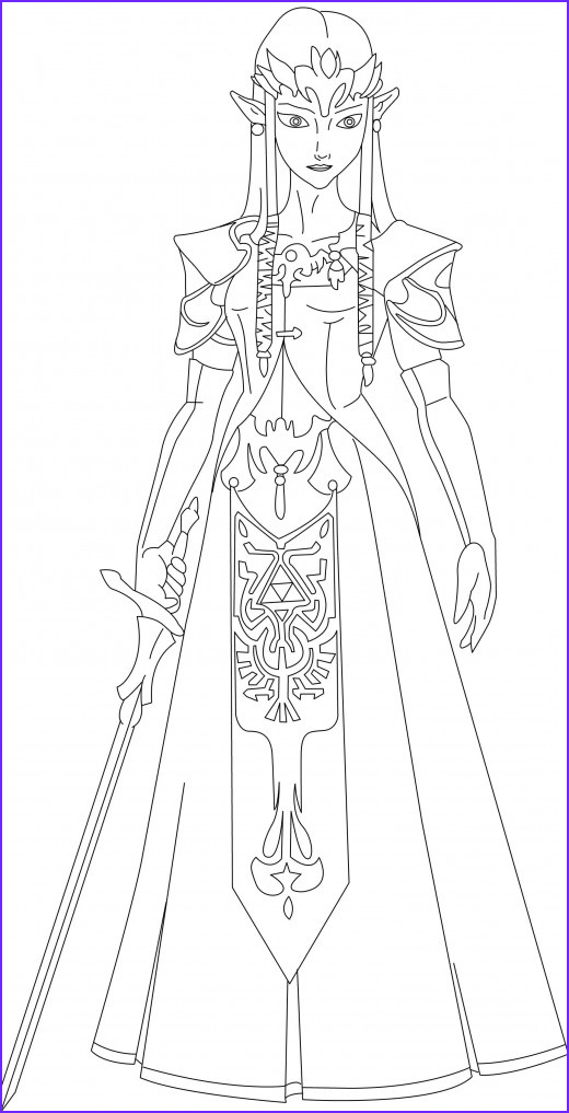 coloring pages zelda