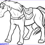 Link Coloring Pages New Gallery How To Draw Epona Epona Legend Of Zelda Step By Step