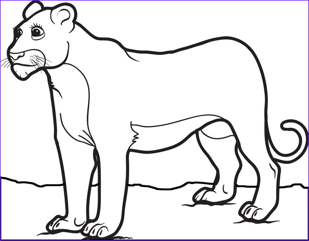 Lion Coloring Book Elegant Photos Free Printable Female Lion Coloring Page for Kids – Supplyme