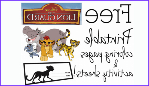 printable the lion guard coloring pages activity sheets
