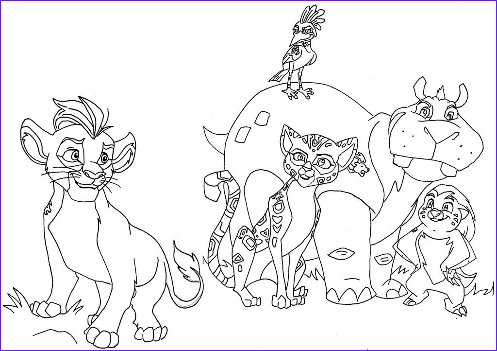 Lion Guard Coloring Page Beautiful Collection the Lion Guard by Zealousshadow On Deviantart