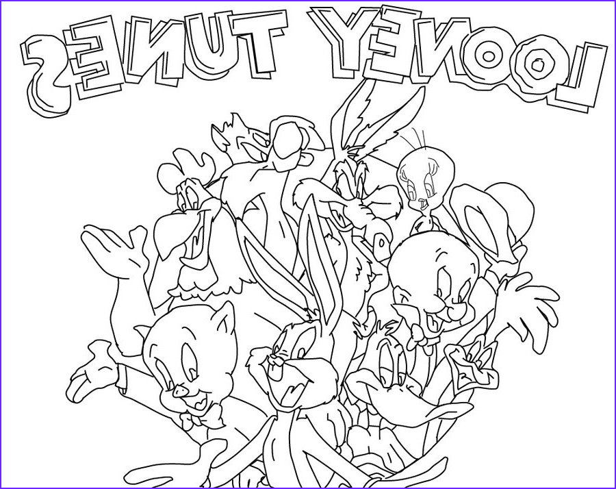 Loony Tunes Coloring Pages Luxury Collection the Lively Show Looney Tunes Colouring Pages Picolour
