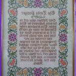 Lord's Prayer Coloring Page Elegant Image Vintage Pleted The Lord S Prayer Cross Stitch 16 X 20