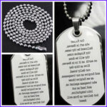 Lord's Prayer Coloring Page New Photography 30 English Lord S Prayer Bible Pendant Necklace Dog Tag