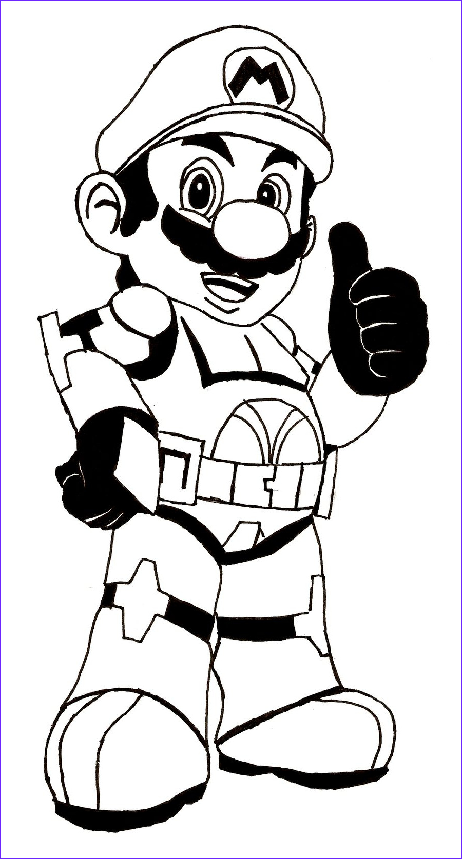 mario and luigi free coloring pages