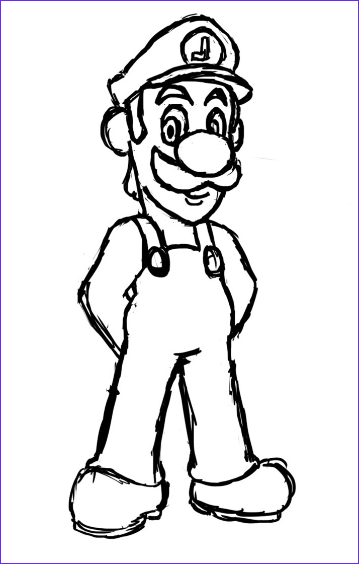 Luigi Coloring Pages Awesome Photos Free Printable Luigi Coloring Pages for Kids