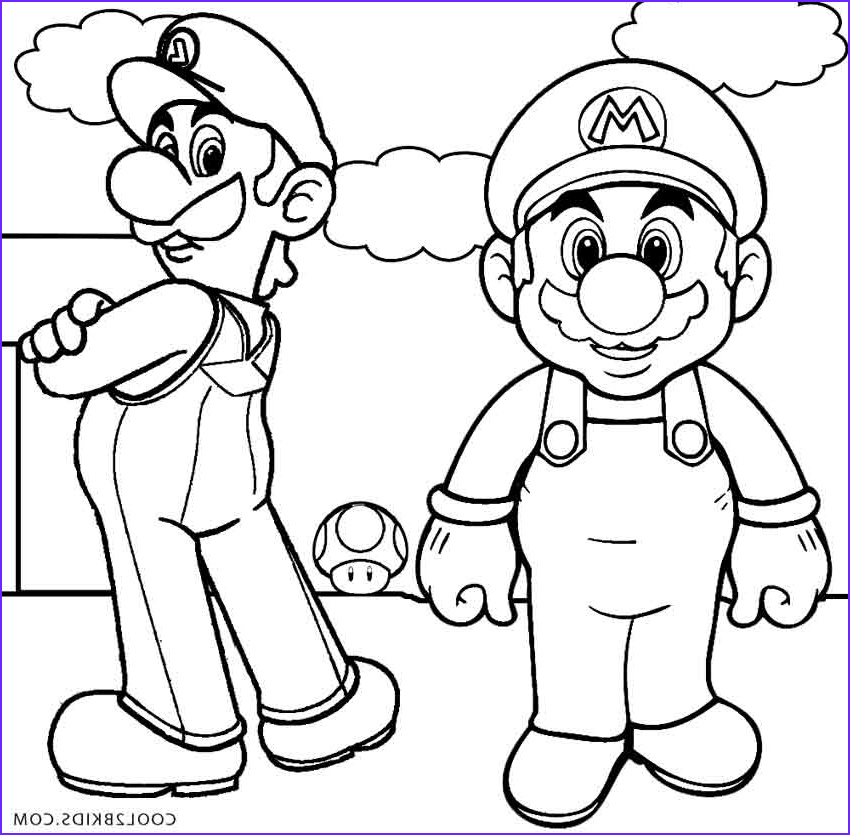 Luigi Coloring Pages Beautiful Collection Printable Luigi Coloring Pages for Kids