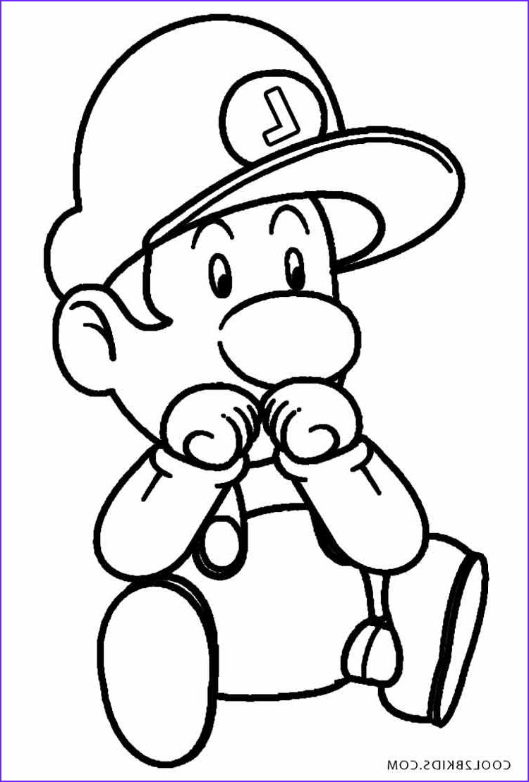 Luigi Coloring Pages Beautiful Images Printable Luigi Coloring Pages for Kids