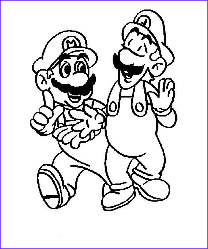 Luigi Coloring Pages Beautiful Stock Mario Coloring Pages Collection 2010