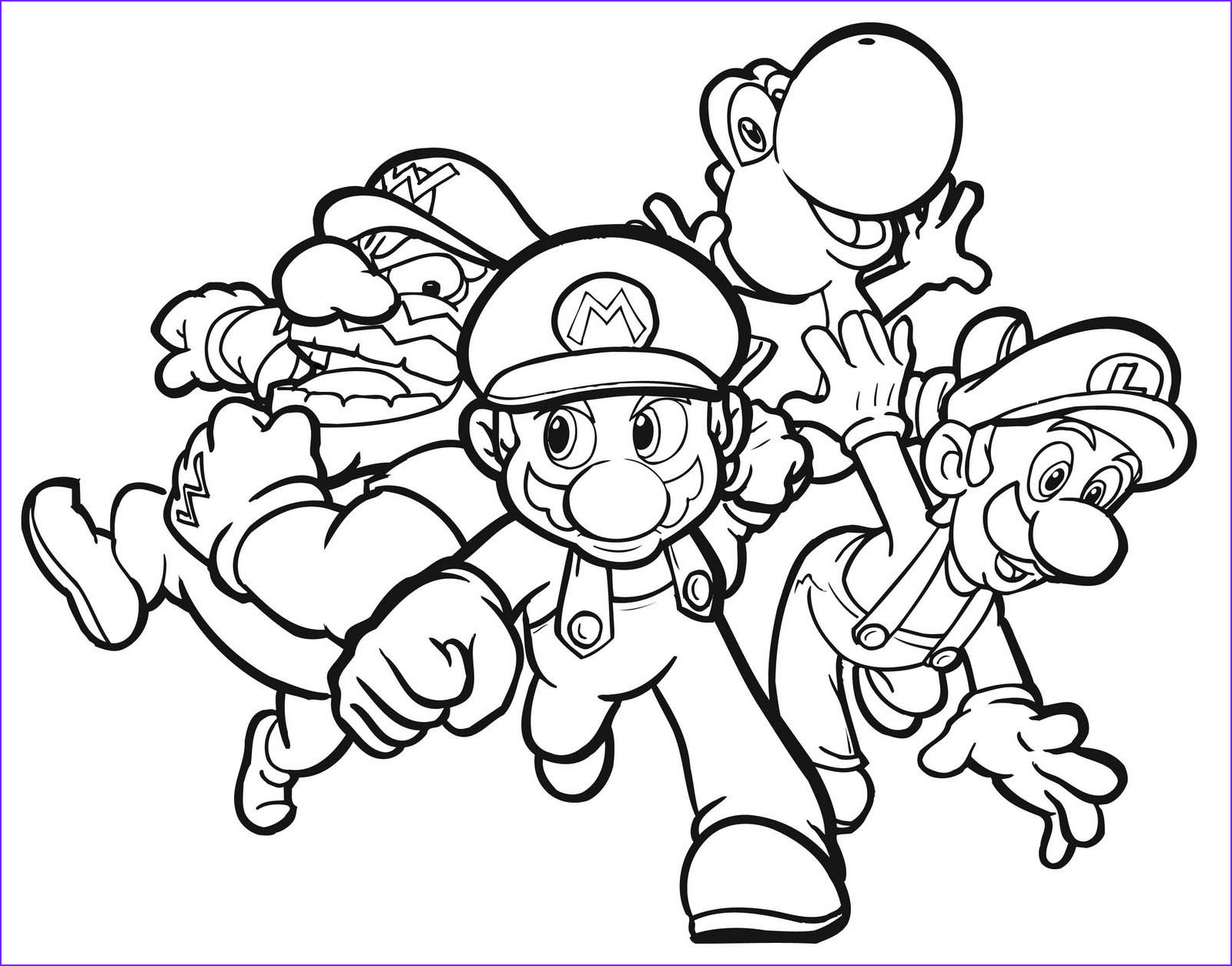 Luigi Coloring Pages Inspirational Image Colouring Pages Of Mario Yoshi Luigi and Wario for Kids