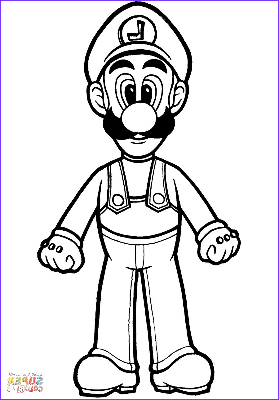 Luigi Coloring Pages New Stock Luigi Coloring Page
