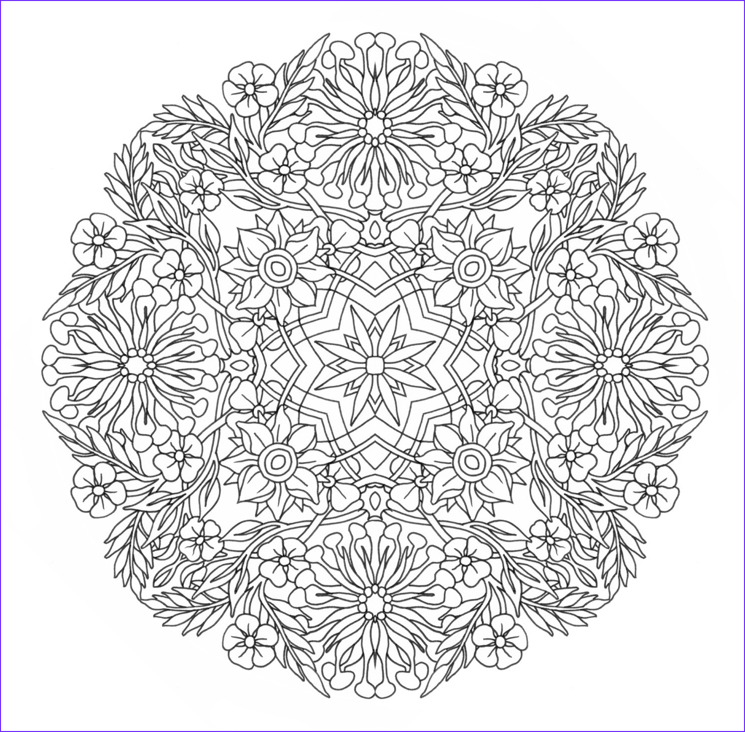 Mandala Coloring Pages Advanced Level Awesome Gallery Advanced Mandala Clipart Clipground