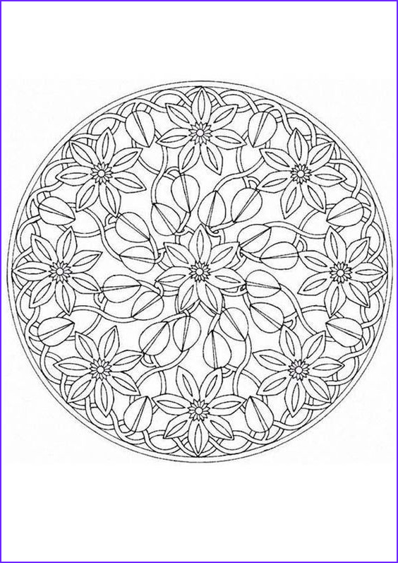 Mandala Coloring Pages Advanced Level Beautiful Stock Mandala Coloring Pages Advanced Level Mandala Coloring