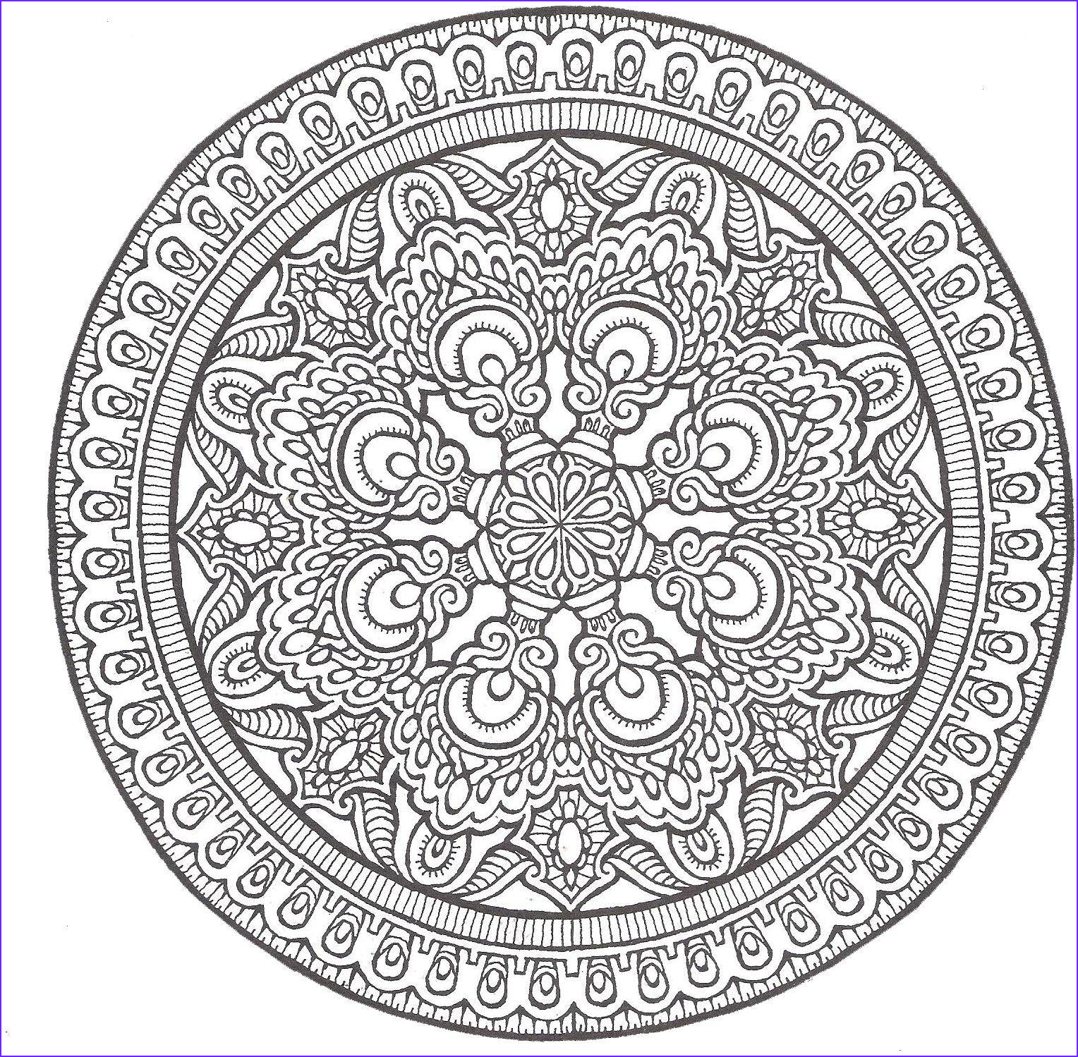 Mandala Coloring Pages Advanced Level Best Of Photos Advanced Mandala Coloring Pages Printable Coloring Home