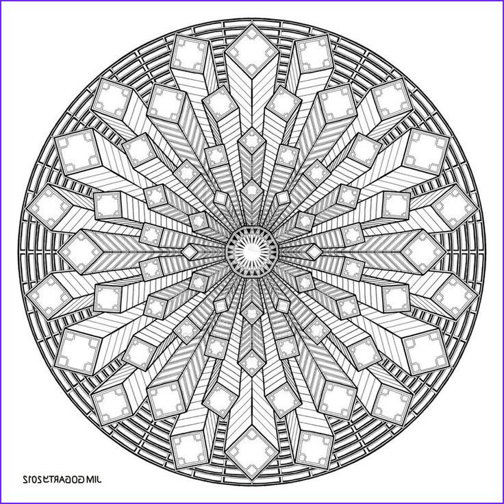 Mandala Coloring Pages Advanced Level Inspirational Collection Difficult Level Mandala Coloring Pages
