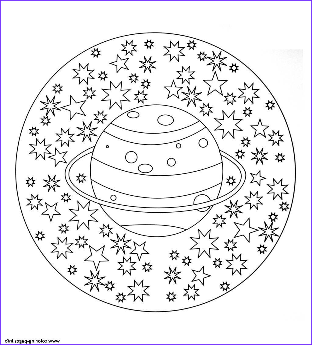 free mandala to color planet stars printable coloring pages book 3371