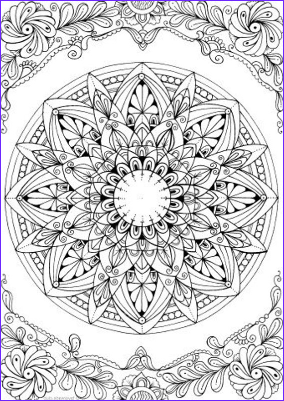 Mandala Coloring Pages Free Printable Inspirational Stock Mandala Printable Adult Coloring Page From Favoreads