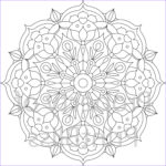 Mandala Flower Coloring Pages Best Of Collection 18 Flower Mandala Printable Coloring Page
