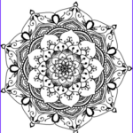 Mandala Flower Coloring Pages Luxury Image Flower Mandala Coloring Page