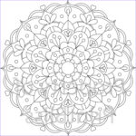 Mandala Flower Coloring Pages New Image 23 Flower Mandala Printable Coloring Page By Printbliss