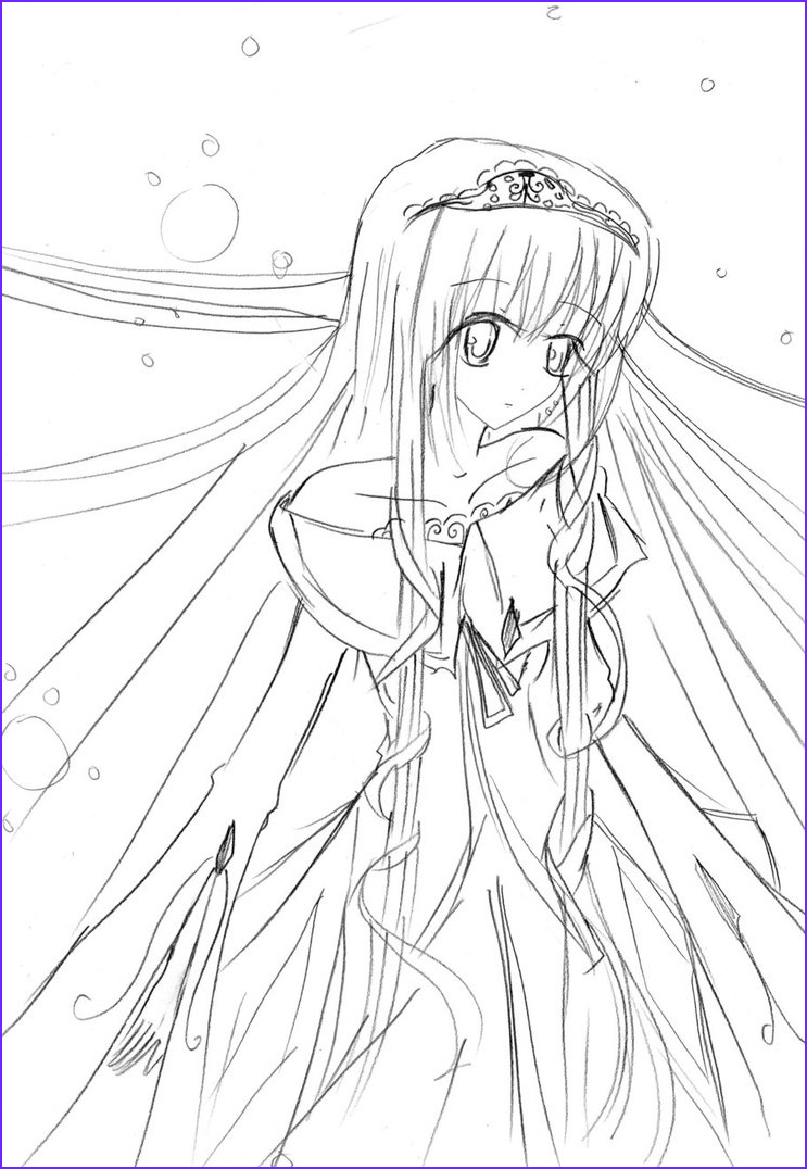 Manga Coloring Awesome Gallery Anime Girl Coloring Pages Coloringsuite