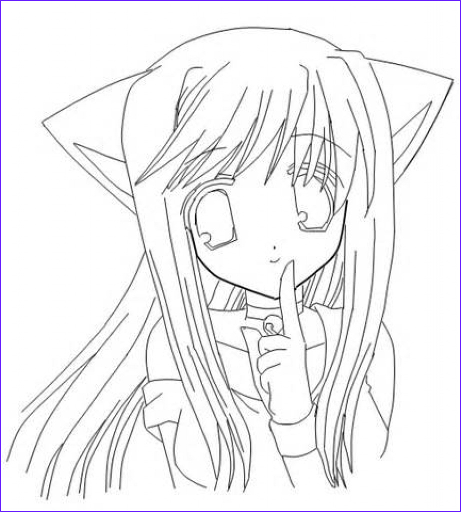 Manga Coloring Unique Photos Anime Girl Coloring Pages Coloringsuite
