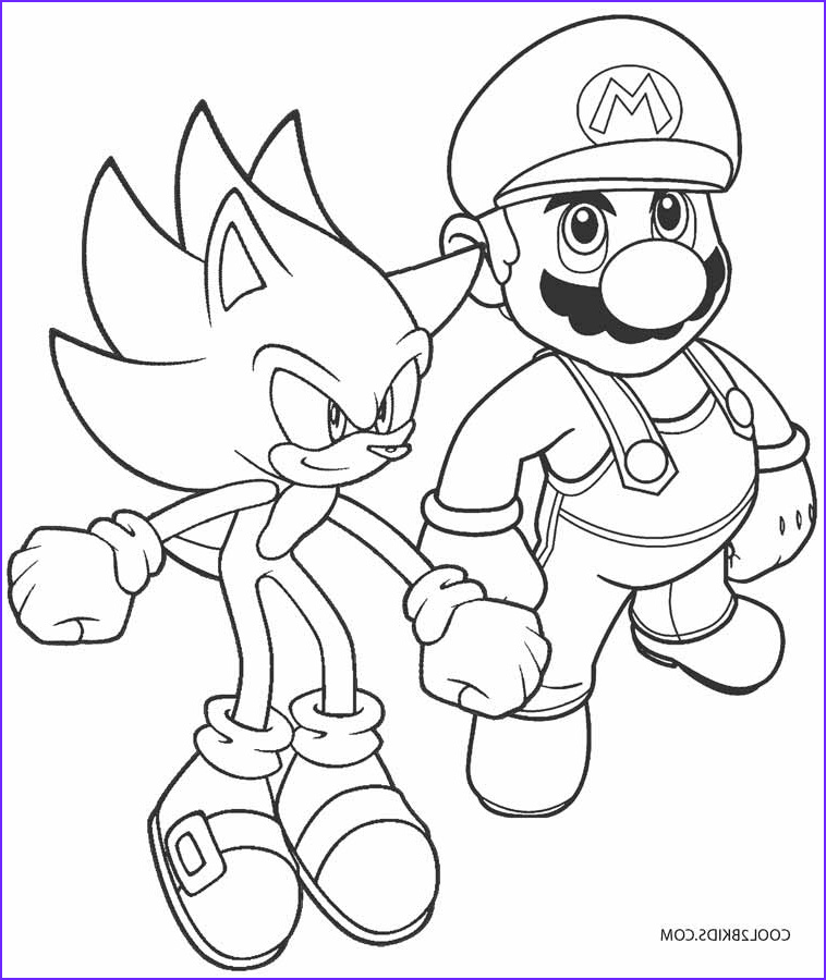 Mario Coloring Pages Beautiful Photos Printable sonic Coloring Pages for Kids