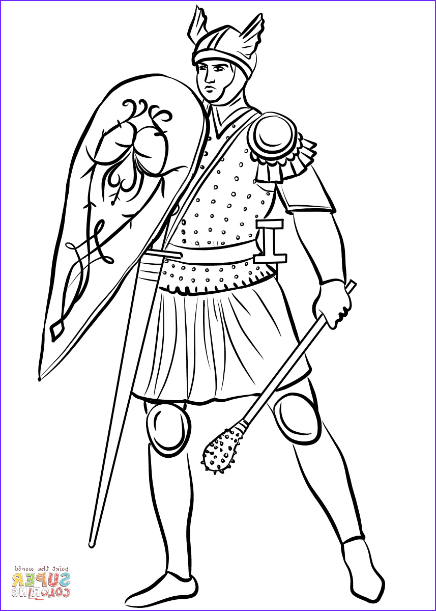 Medieval Coloring Book Beautiful Photos Me Val sol R with Mace Coloring Page