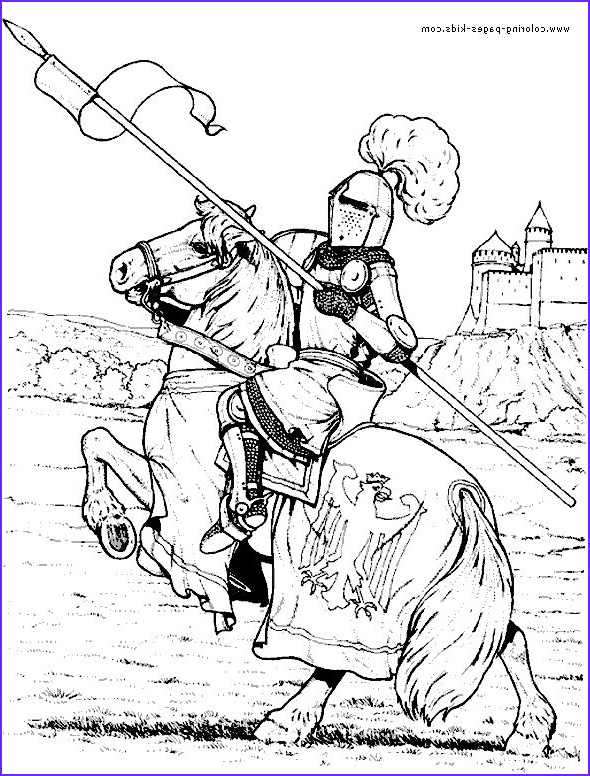 Medieval Coloring Book Luxury Images Knight In Armor On A Horse Color Page Fantasy Me Val