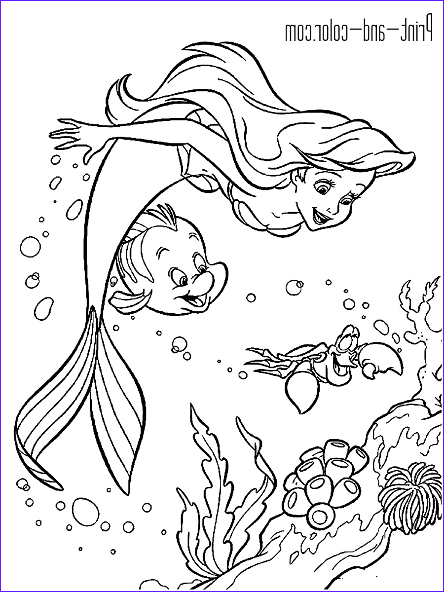 Mermaid Coloring Book Unique Photos the Little Mermaid Coloring Pages