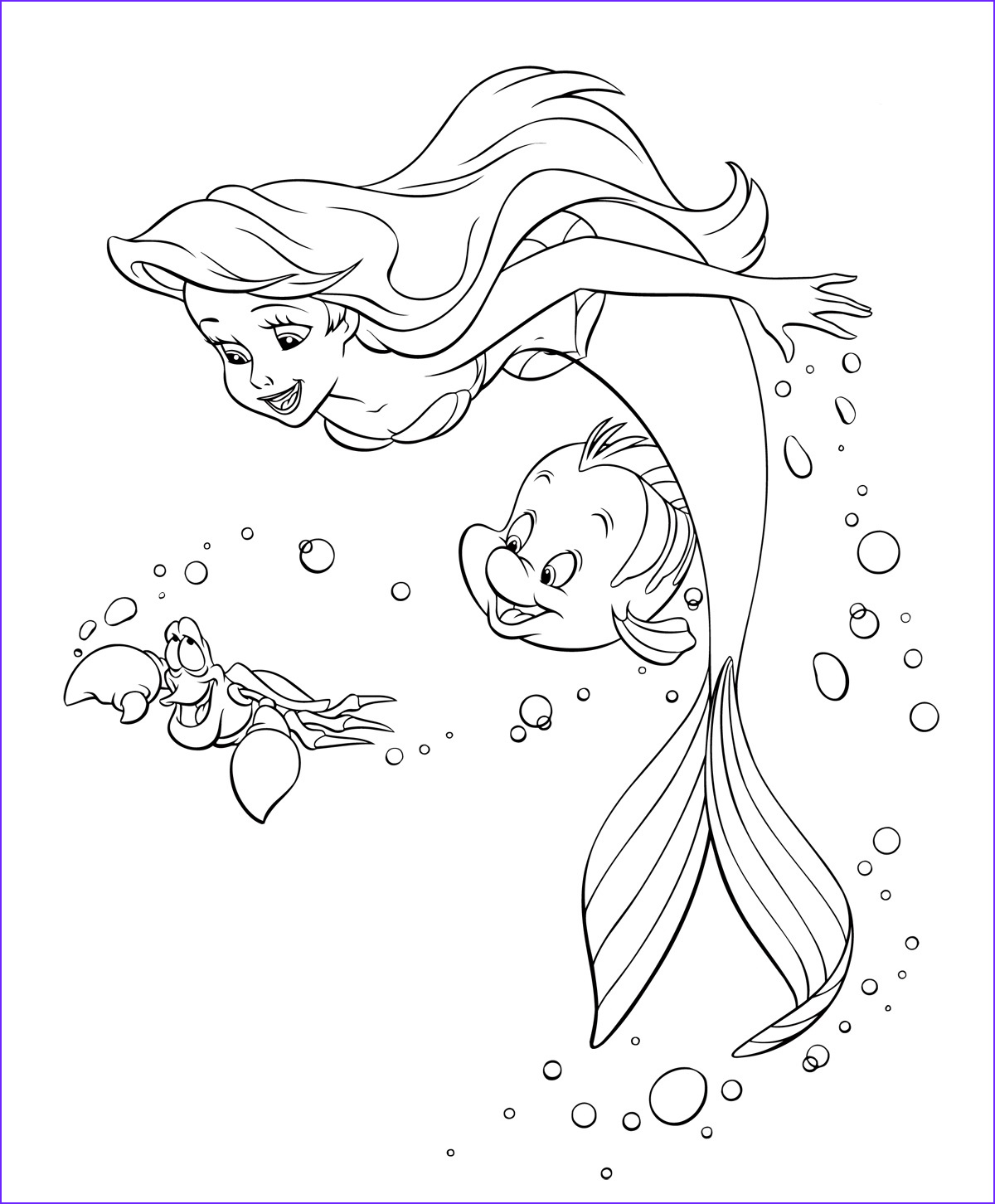 Mermaid Coloring Pages Inspirational Images Ariel the Little Mermaid Coloring Pages for Girls to Print