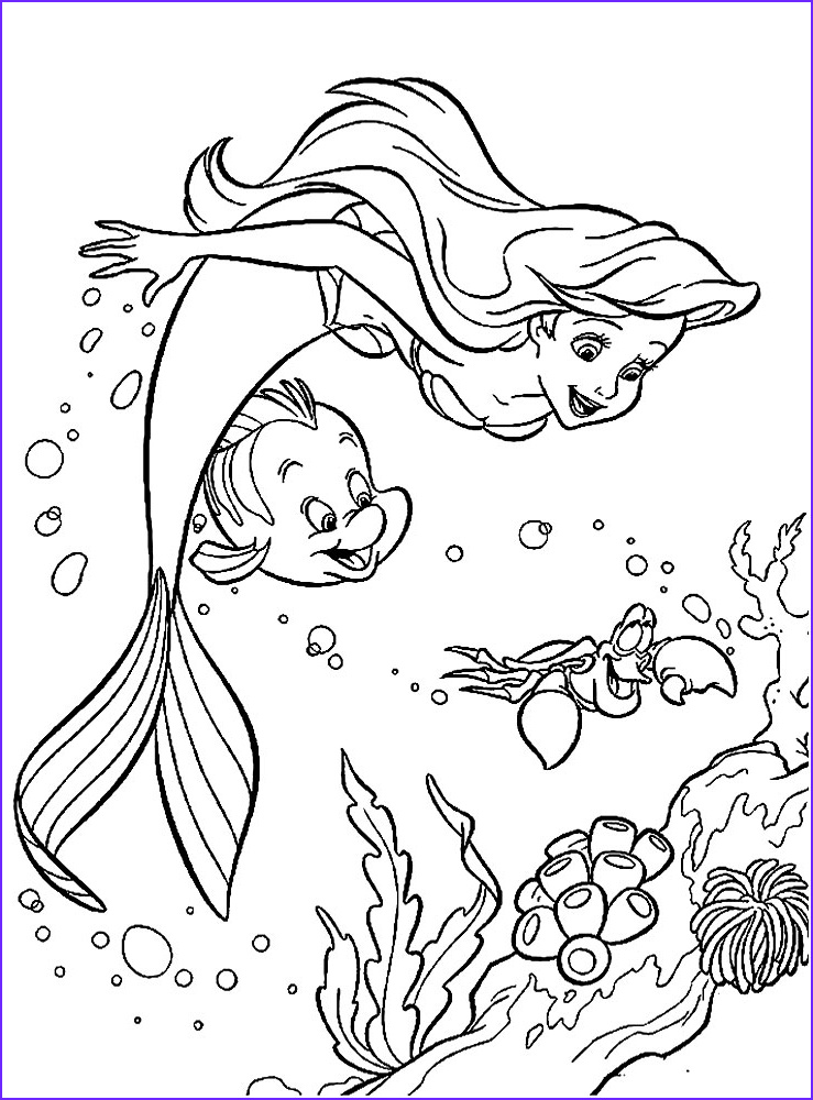 Mermaid Coloring Pages Inspirational Photos Ariel the Little Mermaid Coloring Pages for Girls to Print