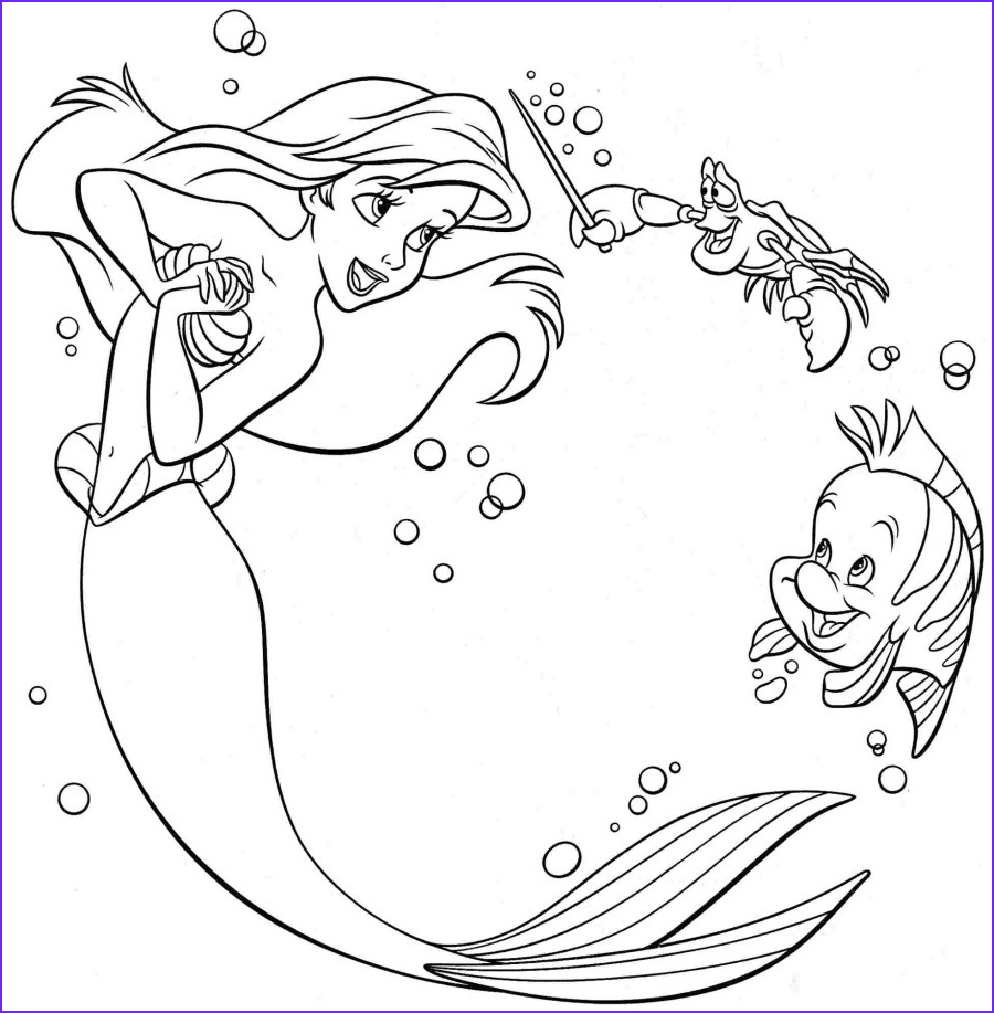 Mermaid Coloring Pages Luxury Stock Ariel Coloring Pages Best Coloring Pages for Kids