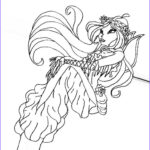 Mermaid Coloring Pages Unique Stock Winx Mermaid Coloring Pages To Print And For Free