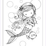 Mermaid Coloring Sheets Beautiful Photos Free Mermaid With Fish Coloring Page By Molly Harrison