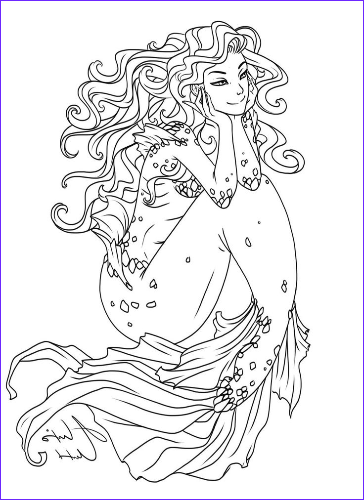 coloring pages sea mermaid etc