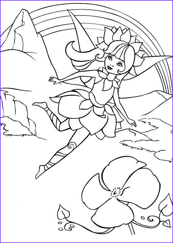 adveture of barbie fairytopia world coloring pages