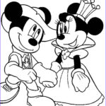Mickey Mouse Coloring Pictures Elegant Collection Queen Minnie And Knight Mickey Mouse Coloring Pages