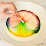 Milk Food Coloring and soap Experiment Inspirational Collection Color Changing Milk Science Fair Project Idea